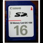 デジカメ(Canon IXY)のメモリを16MBから2GBに大増強