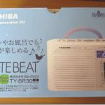 お風呂用ラジオに「TOSHIBA 防水形クロックラジオCUTEBEAT TY-BR30(W)」を購入