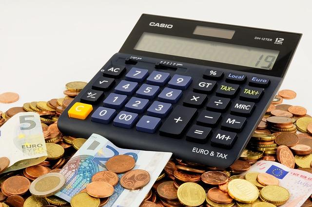 電卓とユーロ