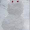 早期退職後初の雪だるま