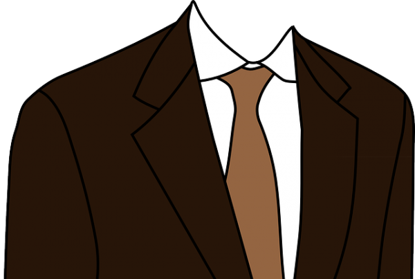 茶色いスーツ