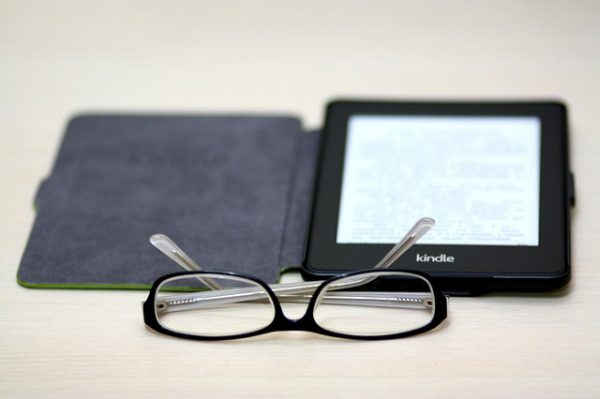 kindle and glasses